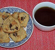 Chocolate Chip Cookies and Coffee by Jonice