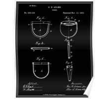 Purse Patent - Black Poster