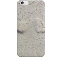 Foot prints in the sand iPhone Case/Skin