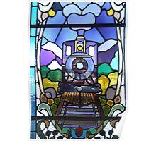 The Blue Locomotive Poster