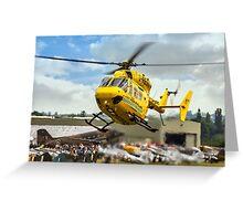 MBB BK.117C-1 G-RESC Air Ambulance arrival Greeting Card