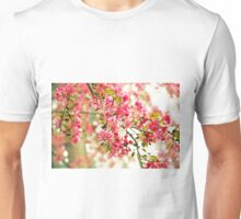 Pink and White Apple Blossoms  Unisex T-Shirt