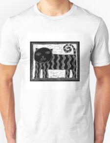 Black and White Stripey Cat T-Shirt