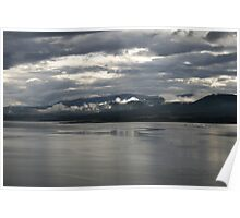 Cromarty Firth looking onto Ben Wyvis, north east Scotland. Poster