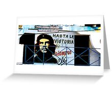 Artwork of Che on Trabajadores Sociales building, Vinales, Cuba Greeting Card