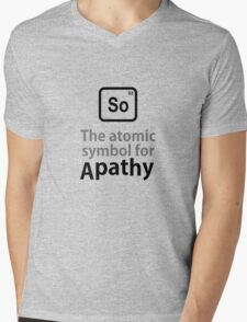 Atomic Symbol for Apathy Mens V-Neck T-Shirt