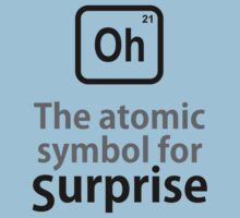 Atomic Symbol for Surprise by rudeboyskunk