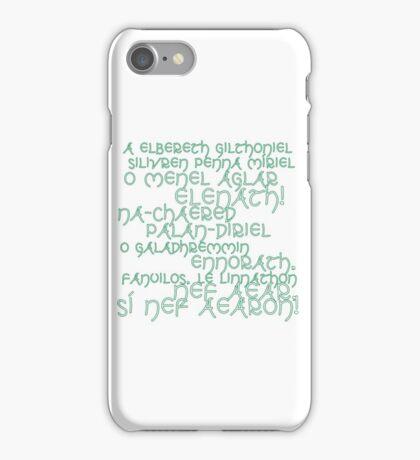 LotR A Elbereth Gilthoniel iPhone Case/Skin