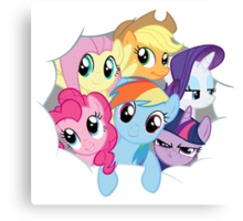Mane Six Break Out! Canvas Print