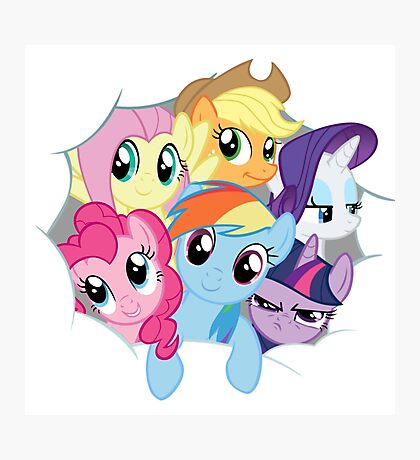 Mane Six Break Out! Photographic Print