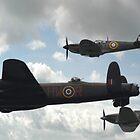 Lancaster, Spitfire, Hurricane by bubblebat