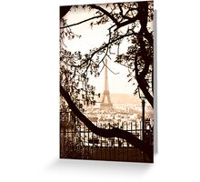 Paris Skyline from Sacre Coeur Greeting Card