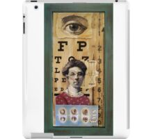 """The Eyes Have It"" - collage / assemblage / shadow box art iPad Case/Skin"