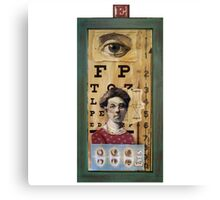 """""""The Eyes Have It"""" - collage / assemblage / shadow box art Canvas Print"""