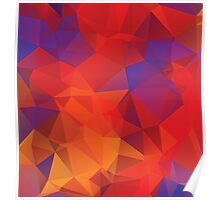 Multicolor Geometric Background Poster