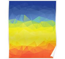 Multicolor Geometric Background 2 Poster