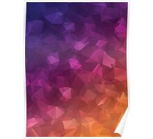 Multicolor Geometric Background 4 Poster