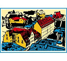 Old red roofs of the European city Photographic Print