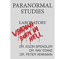 Paranormal Studies Laboratory - Ghostbusters Photographic Print