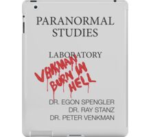 Paranormal Studies Laboratory - Ghostbusters iPad Case/Skin