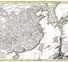 Map of China, Korea, Japan and Formosa - Bonne - 1770 by paulrommer