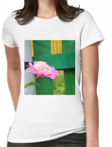 Pink Peony 2 Womens Fitted T-Shirt