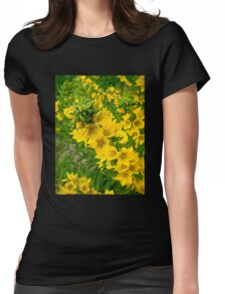 Small Yellow flowers Womens Fitted T-Shirt