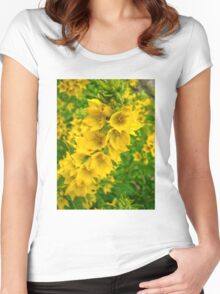 Small Yellow flowers 2 Women's Fitted Scoop T-Shirt