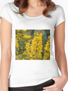 Small Yellow flowers 3 Women's Fitted Scoop T-Shirt