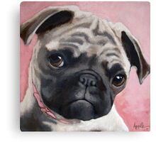 Bailey - Pug dog portrait animal painting Canvas Print