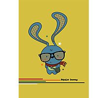 Hipster bunny Photographic Print