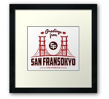 Greetings from SF Framed Print