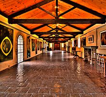 The long Gallery - Montsalvat by Hans Kawitzki