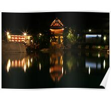 Evening Light Reflected Poster