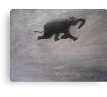 Swimming Elephant Canvas Print