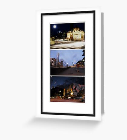 Melbourne Icons - City Views Greeting Card