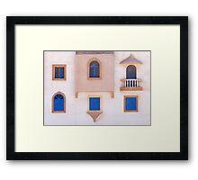 5 windows and a balcony Framed Print