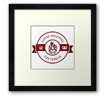 Vintage Future Industries Fire Ferrets Logo Color Framed Print