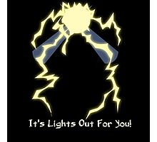 It's Lights Out For You - Spark Man Photographic Print