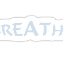 Breathe_blue Sticker