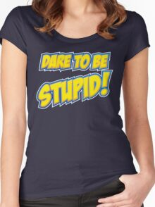 Weird Al - Dare To Be Stupid Women's Fitted Scoop T-Shirt