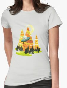 Montains Womens Fitted T-Shirt