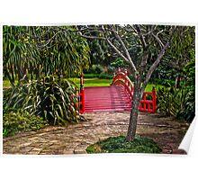 Kawasaki bridge at Wollongong Botanic Gardens Poster