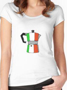 italian coffeepot Women's Fitted Scoop T-Shirt