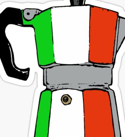 italian coffeepot Sticker