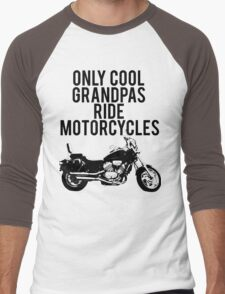 Cool Grandpas Ride Motorcycles Men's Baseball ¾ T-Shirt