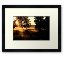 Early Morn Coffee Zone Framed Print