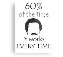 60% Of The Time Metal Print