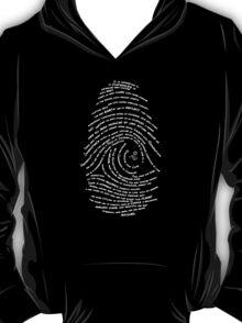Darwin's Fingerprint wht by Tai's Tees T-Shirt