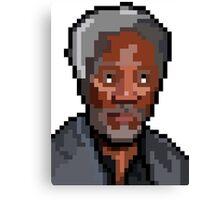 Morgan Freeman 16bit Canvas Print